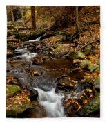 As The Water Runs Fleece Blanket