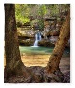 Hocking Hills Waterfall Fleece Blanket