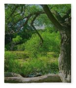 Ash Tree Fleece Blanket