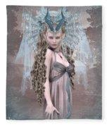 Ashen Queen Of The Mountain 2 Fleece Blanket