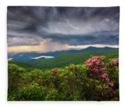 Asheville North Carolina Blue Ridge Parkway Thunderstorm Scenic Mountains Landscape Photography Fleece Blanket