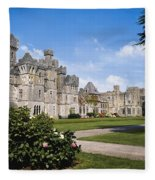 Ashford Castle, County Mayo, Ireland Fleece Blanket