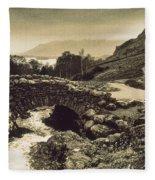 Ashness Bridge Cumbria England Fleece Blanket
