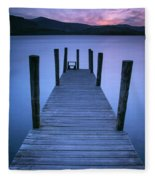 Ashness Jetty, Derwentwater, England Fleece Blanket