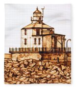Ashtabula Harbor  Fleece Blanket