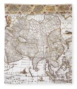 Asia: Map, C1618 Fleece Blanket