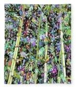 Asian Bamboo Forest Fleece Blanket