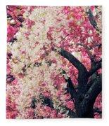 Asian Cherry Vignette Fleece Blanket