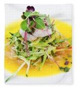 Asian Korean Fusion Fresh Prawn Salad Fleece Blanket