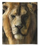 Asiatic Lion Fleece Blanket