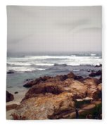 Asilomar Beach Pacific Grove Ca Usa Fleece Blanket