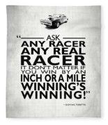 Ask Any Racer Fleece Blanket