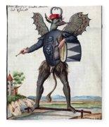 Asmodeus, King Of Demons, 18th Century Fleece Blanket