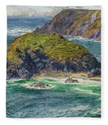 Asparagus Island Fleece Blanket