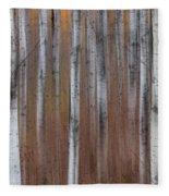 Aspen Abstract Vertical Fleece Blanket