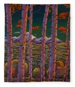 Aspen At Night Fleece Blanket