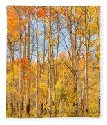 Aspen Fall Foliage Vertical Image Fleece Blanket