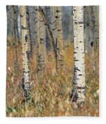 Aspen Forest, Mountain View County Fleece Blanket