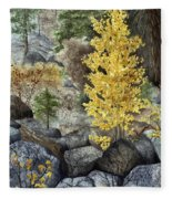 Aspen Gold Fleece Blanket