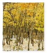 Aspen In Snow Fleece Blanket