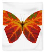 Aspen Leaf Butterfly 2 Fleece Blanket