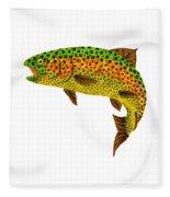 Aspen Leaf Rainbow Trout 1 Fleece Blanket