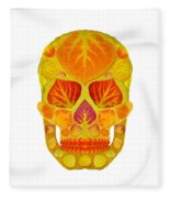 Aspen Leaf Skull 13 Fleece Blanket