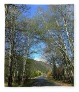 Aspen Lined Road Fleece Blanket