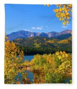 Aspen On Pikes Peak And Crystal Reservoir Fleece Blanket