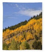 Aspen Ridge San Juan Mountains Fleece Blanket