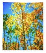 Aspen Trees Fleece Blanket