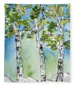 Aspen Trio Fleece Blanket