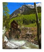 Aspens Around The Crystal Mill Fleece Blanket