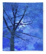 Asphalt-tree Abstract Refection 02 Fleece Blanket