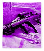 Assault Rifle Fleece Blanket