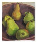 Assorted Pears Fleece Blanket