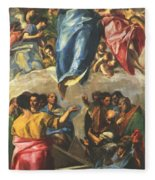 Assumption Of The Virgin 1577 Fleece Blanket