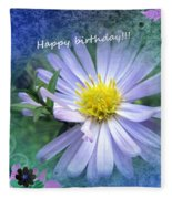 Aster ,  Greeting Card Fleece Blanket