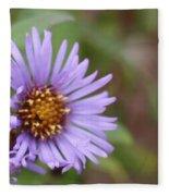 Aster Flower Fleece Blanket