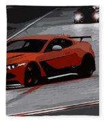 Aston Martin Vantage Gt12 Fleece Blanket