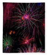 Astonishing Fireworks Fleece Blanket