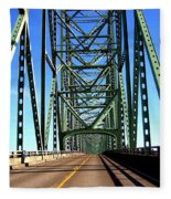 Astoria-megler Bridge Fleece Blanket