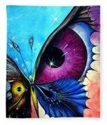 Astral Butterfly. Soul - Memory - Mind Fleece Blanket