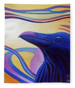 Astral Raven Fleece Blanket