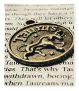 Astrological Definition In Taurus Fleece Blanket