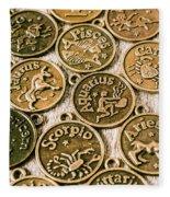 Astrology Charms Fleece Blanket