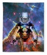 Astronaut Disintegration Fleece Blanket