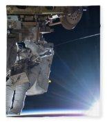 Astronaut Terry Virts Eva Fleece Blanket