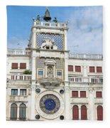 Astronomical Clock At San Marco Square Fleece Blanket