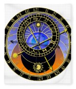 Astronomical Clock Fleece Blanket